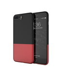 FLOVEME Black Red iPhone Splice Ultra Thin Phone Case